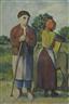 Werner Paul Schmidt, Bauernpaar mit Esel