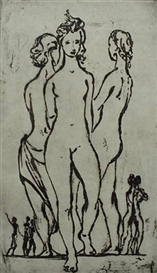 Artwork by Frederic Taubes, Primavera, Made of etching