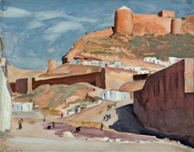 Artwork by John Goodwin Lyman, CHATEAU IN ALGARVE, PORTUGAL, Made of oil on panel