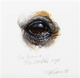 Artwork by Richard McLean, No Double's Eye, Made of watercolor on paper