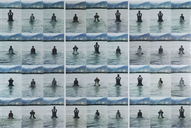 Artwork by Song Dong, Stamping the Water (set of thirty-six), Made of chromogenic prints