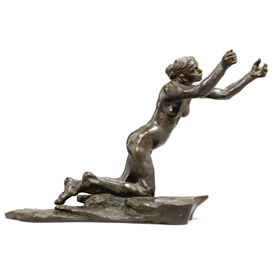 Artwork by Camille Claudel, conceived: 1894 cast: 1908 L'Implorante, Made of bronze, dark brown patina
