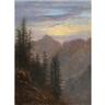 Carl Gustav Carus, Abendliche Mittelgebirgslandschaft (Mountain Landscape at Dusk)