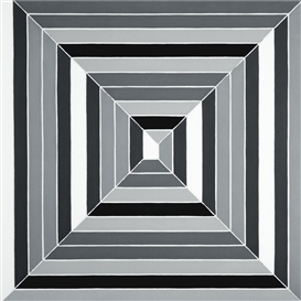 Artwork by Frank Stella, Untitled (Black and White Maze), Made of alkyd on canvas