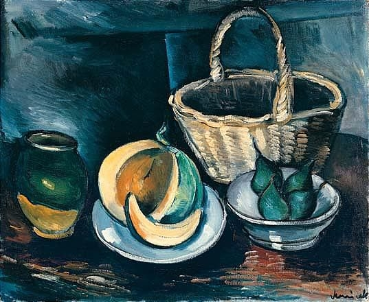 Artwork by Maurice de Vlaminck, nature morte au melon, Made of oil on canvas