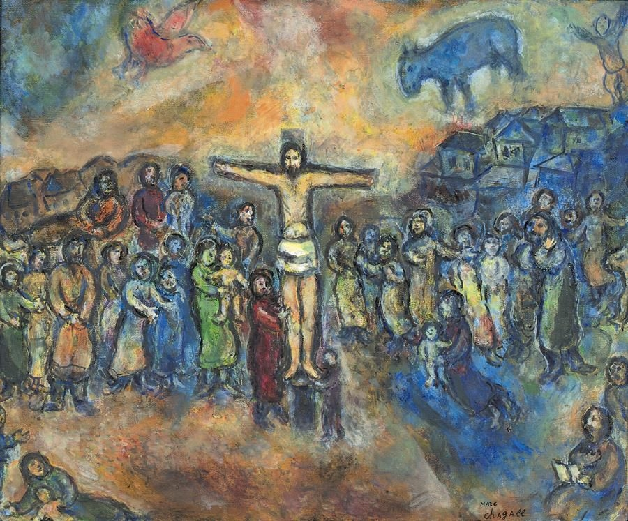 Marc Chagall - CRUCIFIXION, oil on canvas Chagall Crucifixion