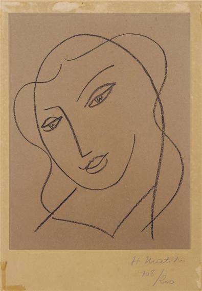 Matisse Henri | ÉTUDES POUR LA VIERGE - TÊTE VOILÉE (D. 640) | MutualArt