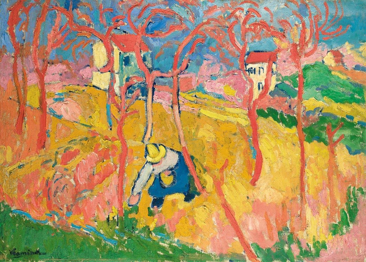 Maurice de vlaminck le jardinier oil on canvas for Le jardinier