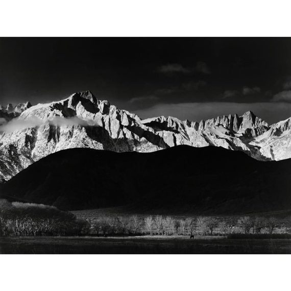 Ansel Adams - 'MONOLITH, THE FACE OF HALF DOME,... Ansel Adams Clearing Winter Storm Analysis