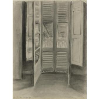 Henri matisse la fen tre ouverte 1928 charcoal for Fenetre ouverte