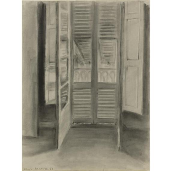 Henri matisse la fen tre ouverte 1928 charcoal for Henri matisse fenetre