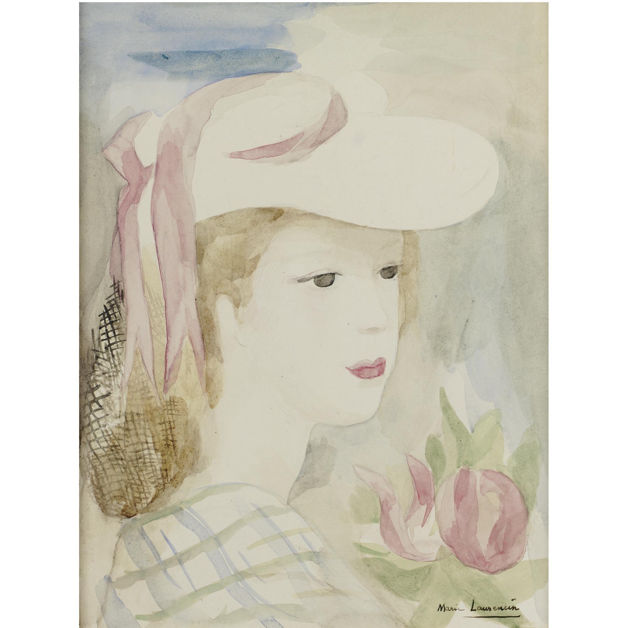 Marie Laurencin  Jeune Femme au Chapeau et à la