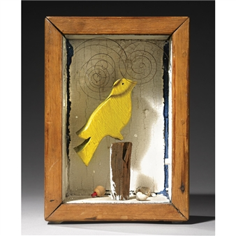 Box Springs For Sale >> Joseph Cornell - Untitled (Yellow Bird with Watch...