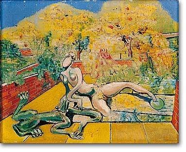 Max ernst le jardin des hesperides oil on canvas for Jardin hesperides