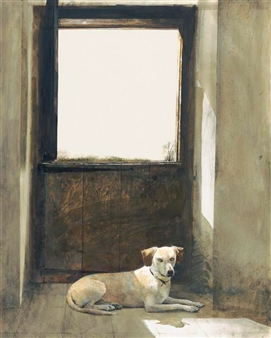 WATCH DOG By Andrew Wyeth ,Circa  1970
