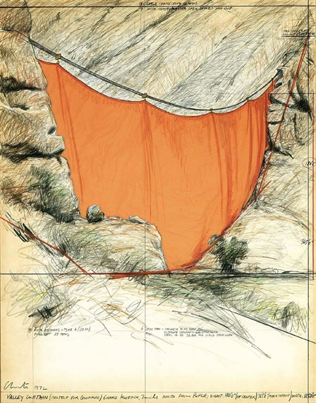 Christo & Jeanne-Claude - VALLEY CURTAIN