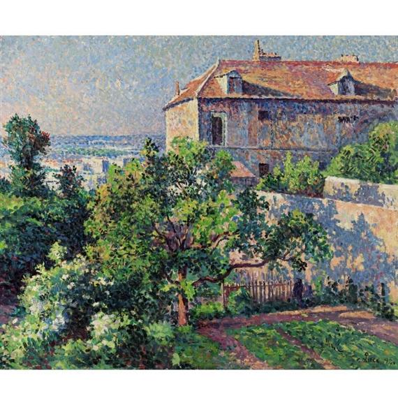 Artwork by Maximilien Luce, MONTMARTRE, LA MAISON DE SUZANNE VALADON, Made of oil on canvas