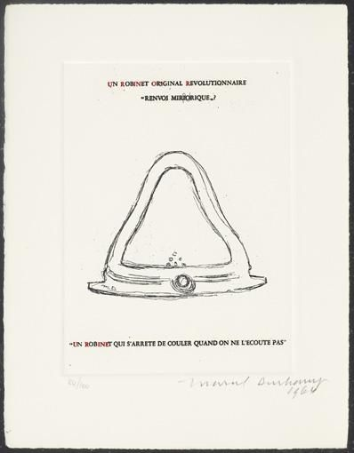 Duchamp Marcel Un Robinet Original Revolutionnaire Mutualart