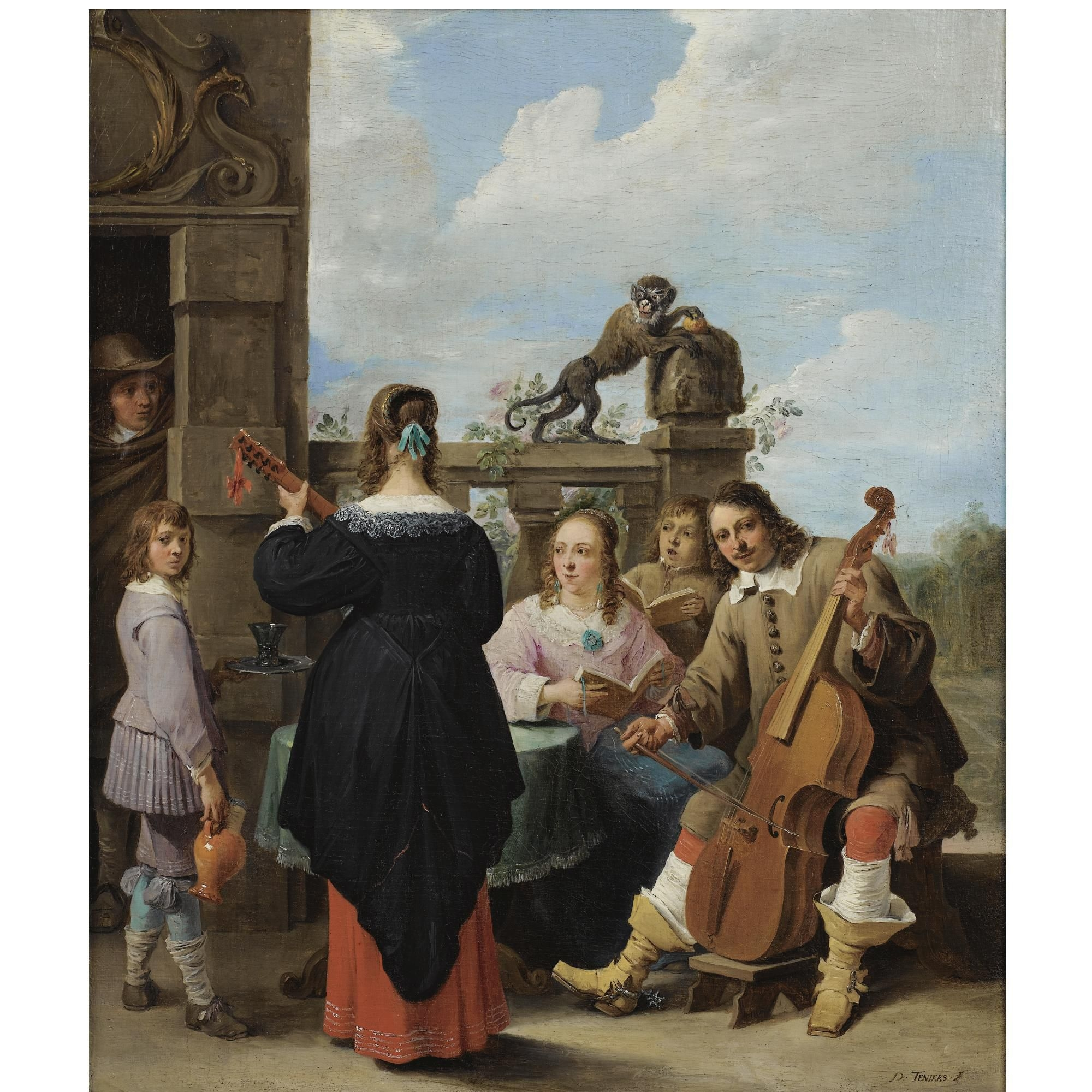 David teniers the younger a family concert on for Kids on the terrace