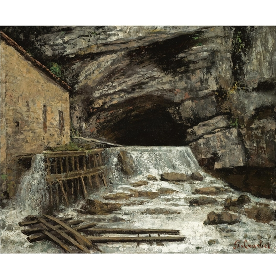 Gustave Courbet La Source De La Loue 1864 Oil