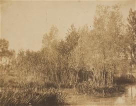 Artwork by Eugène Cuvelier, Paysage au bord d'une rivière, 1852