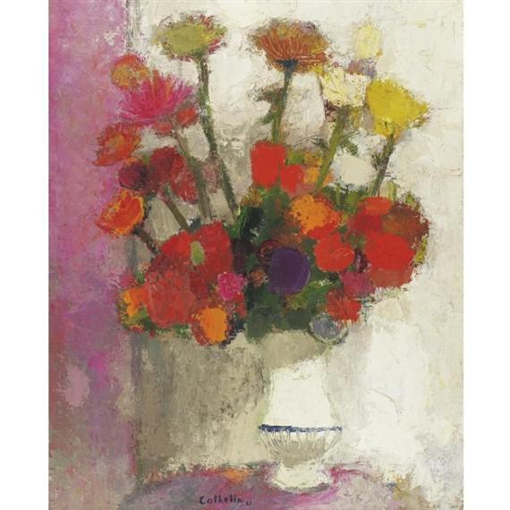 Cathelin Bernard Le Vase Blanc Mutualart