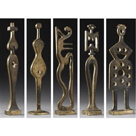 Artwork by Vadim Sidur, A Collection of 5 Bronze Sculptures, 1981, Made of bronze