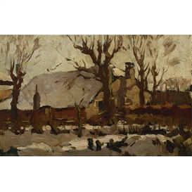 Ben Viegers, farm in the snow