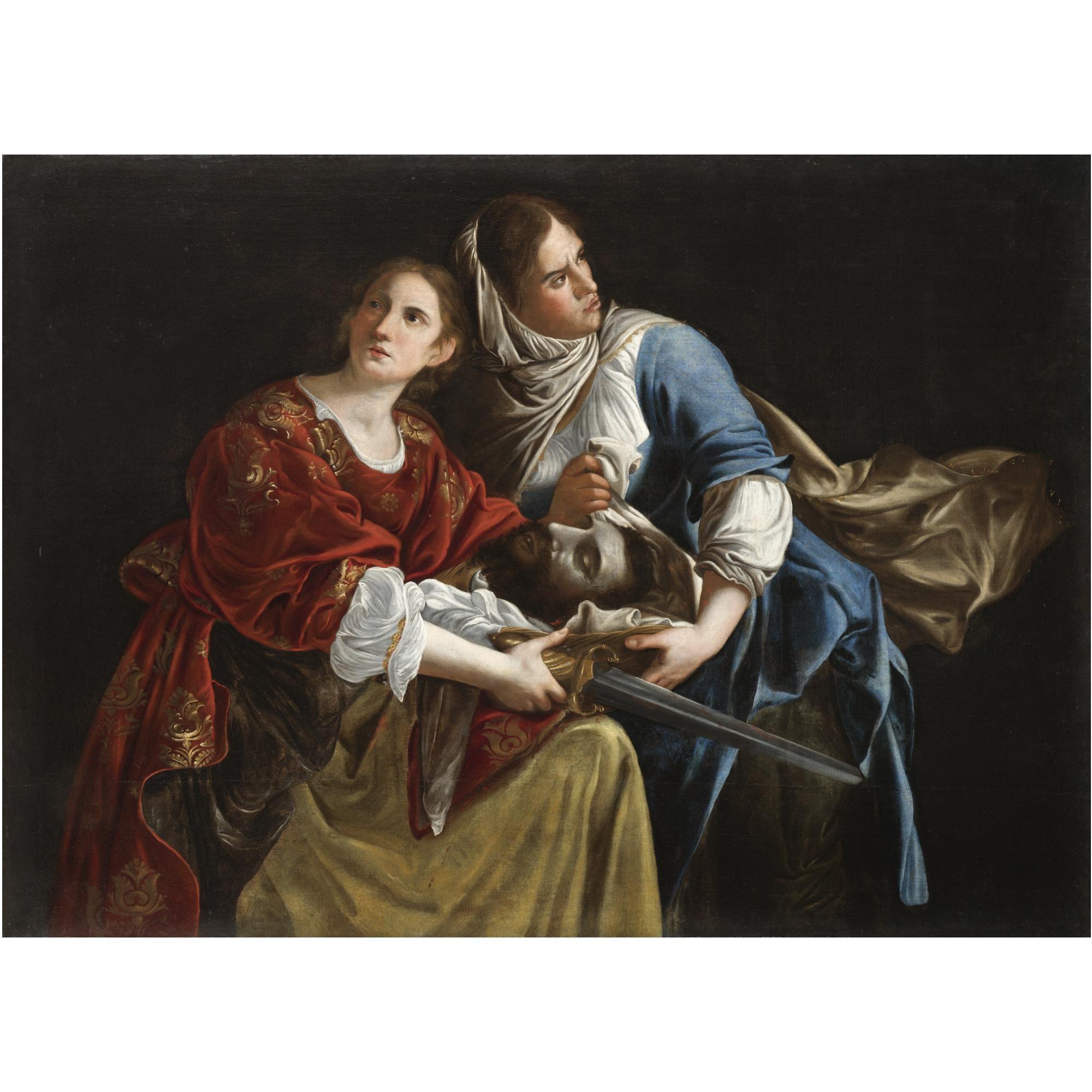 Gentileschi  Judith and her maidservant with the head of Holofernes    Judith And Her Maidservant With The Head Of Holofernes