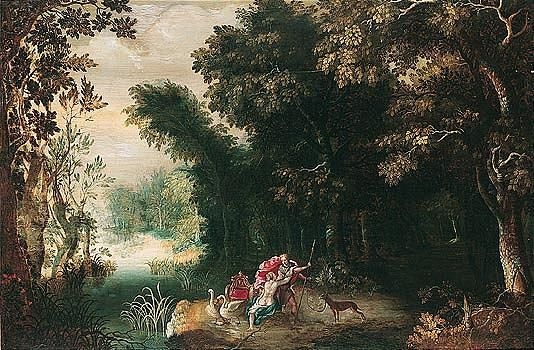 govaerts abraham venus and adonis in a wooded landscape mutualart. Black Bedroom Furniture Sets. Home Design Ideas