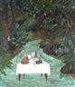 Edouard Duval-Carrié, la table dressée aux boix-caïman