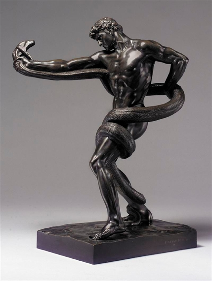 Lord Frederic Leighton Athlete Struggling With A