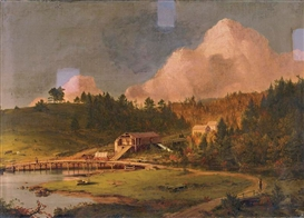 Frederic Edwin Church, LUMBER MILL, MOUNT DESERT ISLAND