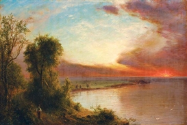 Artwork by Frederic Edwin Church, THE SETTING SUN