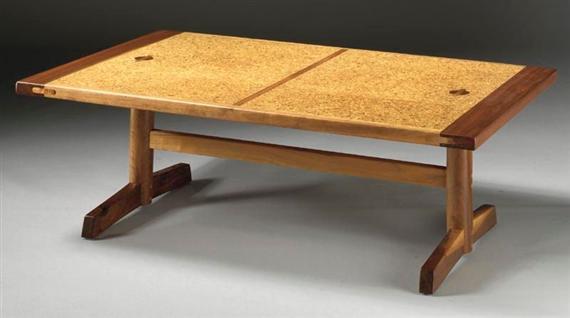 sam maloof - cork-topped coffee table