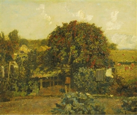 Artwork by John Knight, A GARDEN IN SUSSEX, Made of oil on canvas
