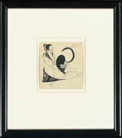 Artwork by Aubrey Beardsley, VIGNETTE IN BON-MOTS OF SMITH AND SHERIDAN, Made of Ink on paper; Pen and ink on paper