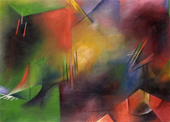 COMPOSITION By Georg Muche ,Circa  1914