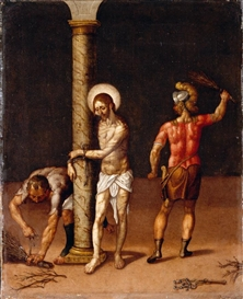 Artwork by Francisco Pacheco, THE FLAGELLATION OF CHRIST, Made of oil on canvas