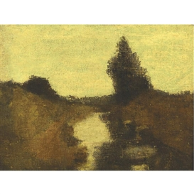 Artwork by Albert Pinkham Ryder, LANDSCAPE, Made of oil on canvas