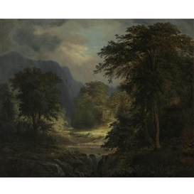 Artwork by Robert S. Duncanson, A CLEARING IN THE FOREST, Made of oil on canvas