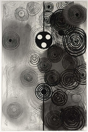 Artwork by Kees de Goede, PULSE O, Made of charcoal on paper