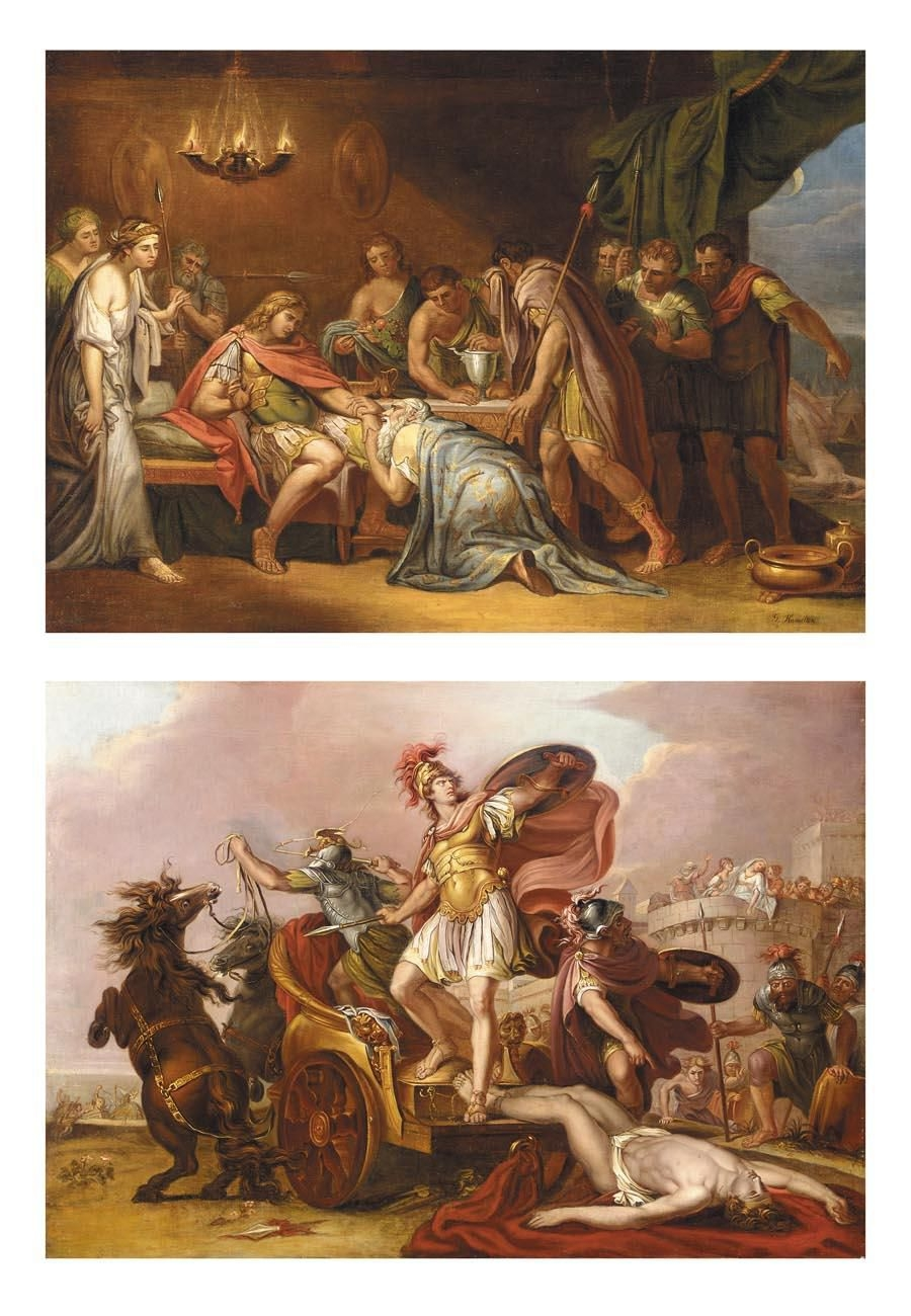 Achilles stunning encounter with Priam, king of Troy