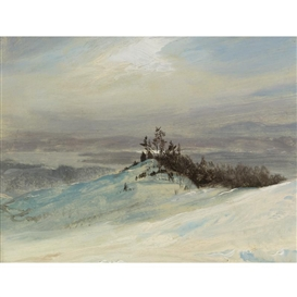 Frederic Edwin Church, Winter on the Hudson River Near Catskill, New York