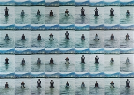 Artwork by Song Dong, Stamping the Water (Set of thirty-six), Made of chromogenic print