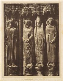 Artwork by Alphonse-Louis Poitevin, Cathédrale de Chartres, statues colonnes, 1855