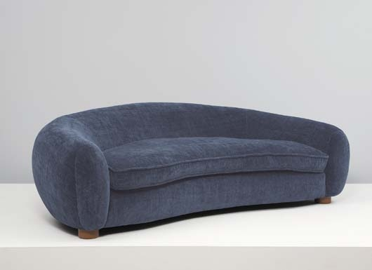 Jean Roy 232 Re Ours Polaire Sofa 1950 Oak Fabric