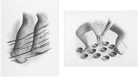 Artwork by Marta María Pérez Bravo, Two Works: (i) Cruzando un Rio; (ii) Los Cantos Mandan, Made of Gelatin silver print.