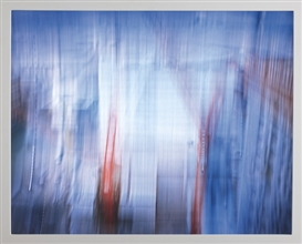 Artwork by Catherine Yass, Descent: HQ3: 1/4 s, 5.7º, 3.4 mm, 8.5 mph, Made of Ilfochrome transparency in light box.
