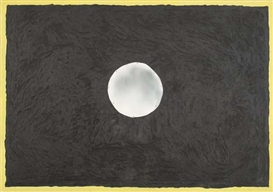 Artwork by Paterson Ewen, Full Moon, Made of Metal and acrylic on plywood.